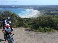catherine beach - nice ride to the top of the hill but long walk down to th...